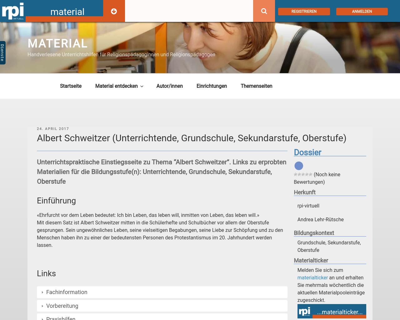 albert schweitzer unterrichtende grundschule sekundarstufe oberstufe - Albert Schweitzer Lebenslauf