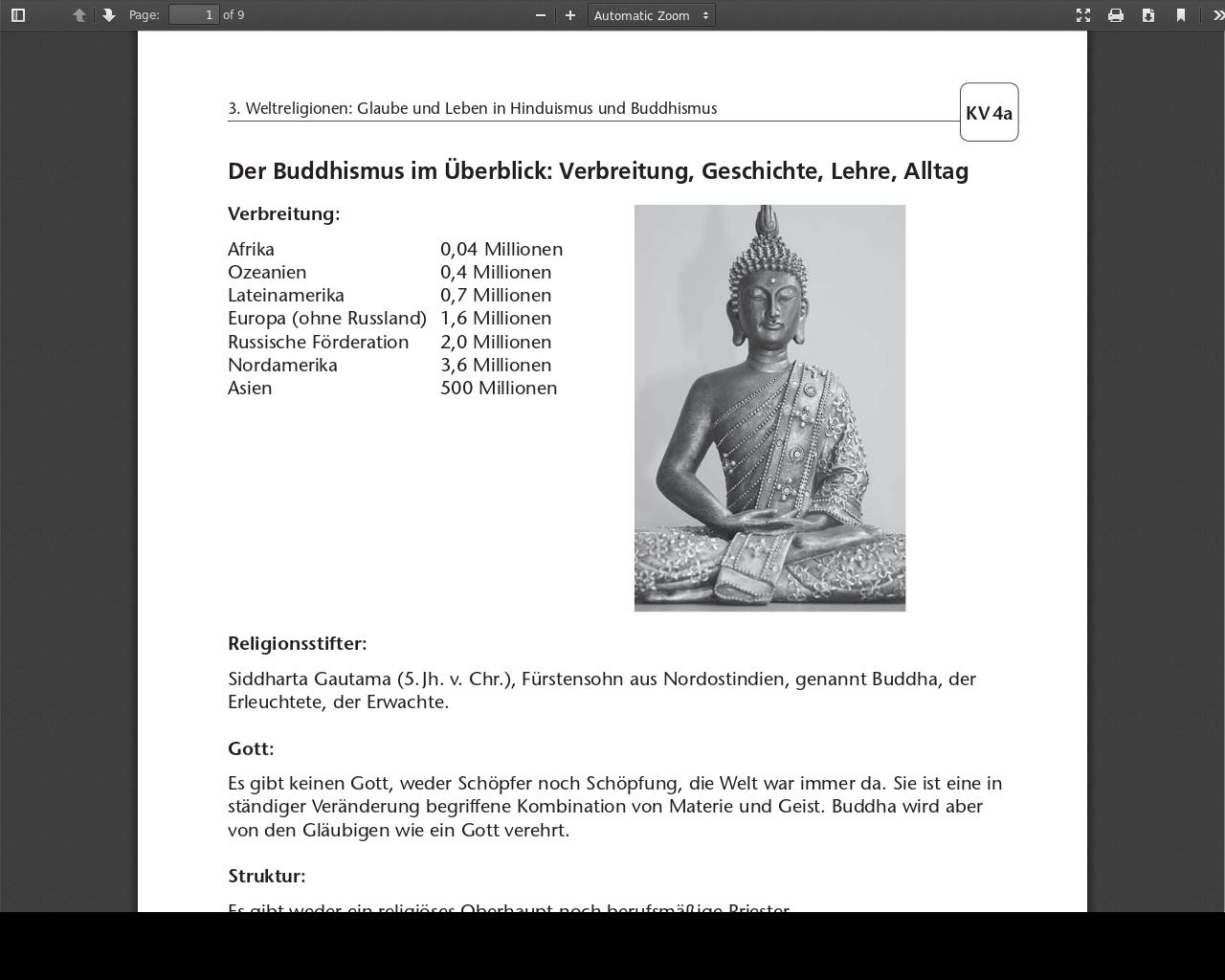 Buddhismus Grundschule
