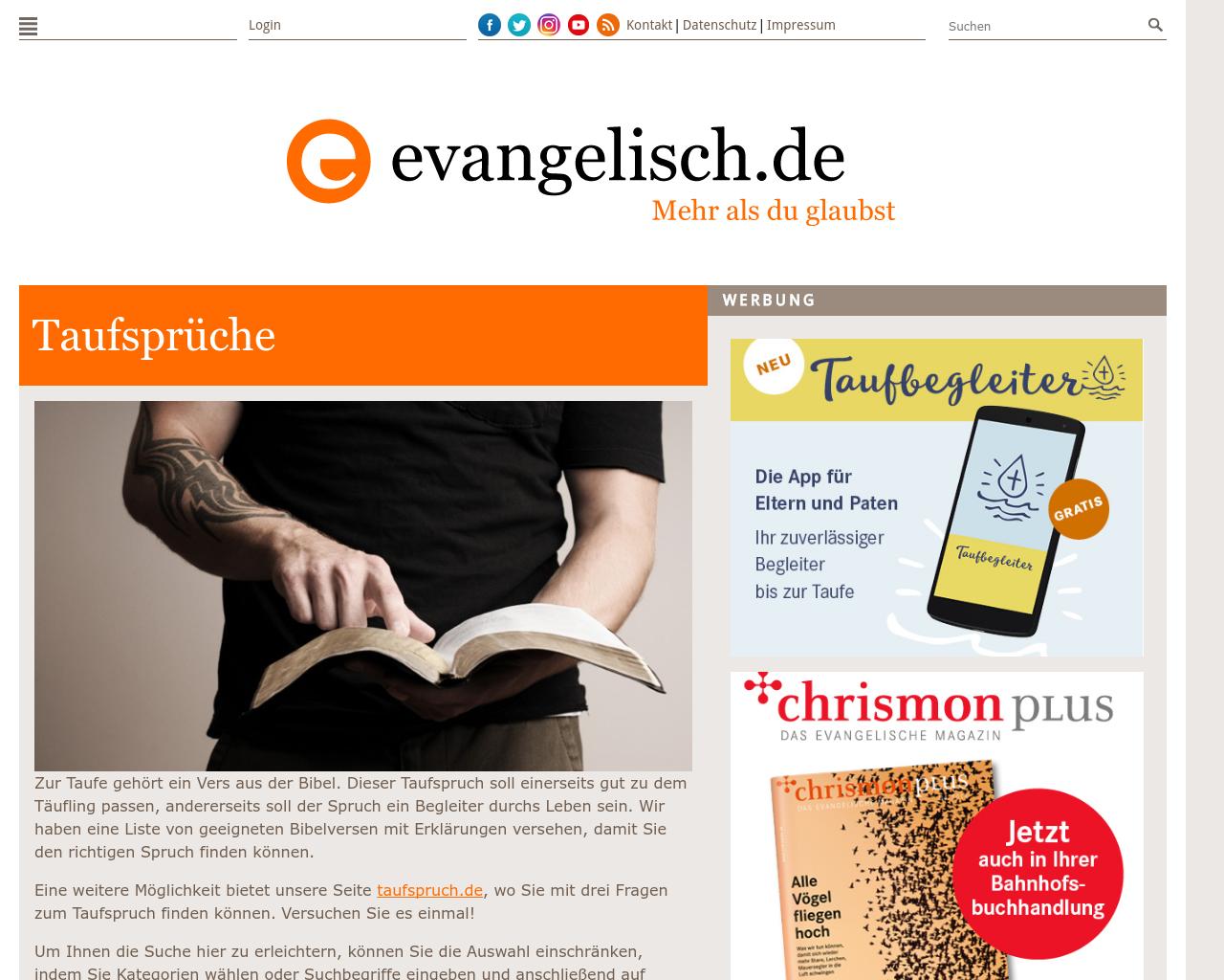 Evangelische Taufsprüche Taufe 2019 10 12
