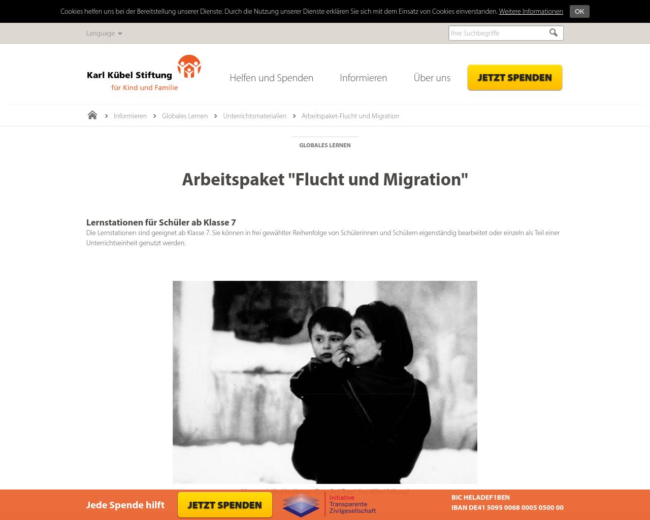 Flüchtlinge – Material