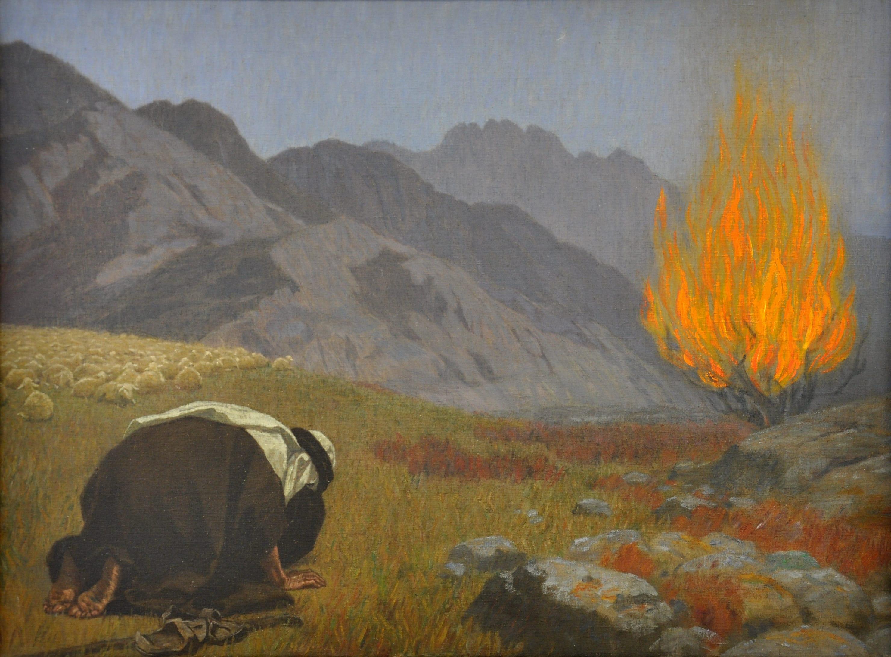 Moses Und Der Brennende Dornbusch
