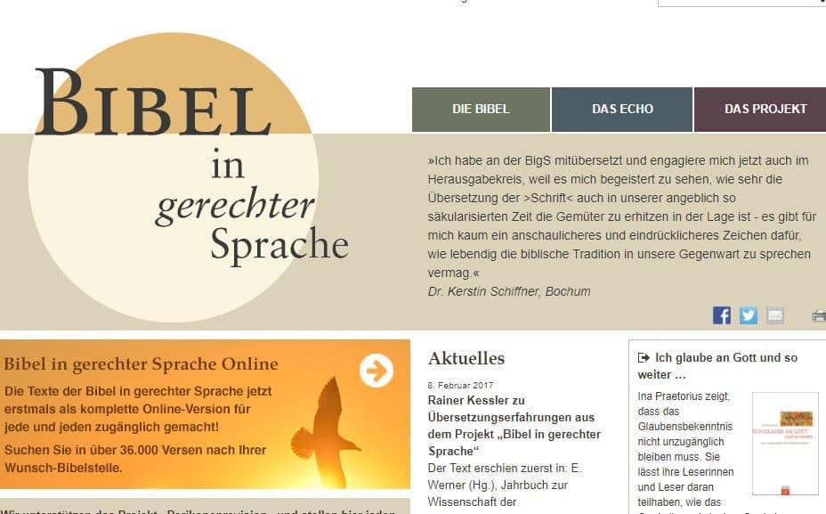 Bibel In Gerechter Sprache Online